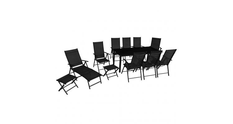 Plus Set Mobilier Gradina Aluminiu Negru