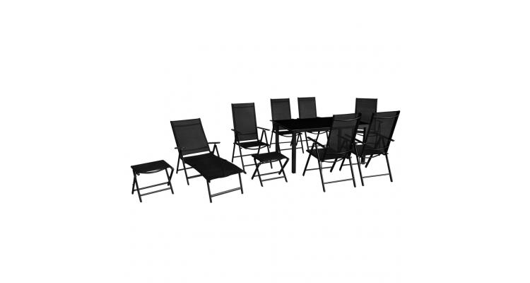 Set Mobilier Gradina Aluminiu Negru Imagine