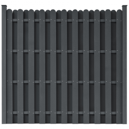 Panou pentru gard din WPC, patrat, gri