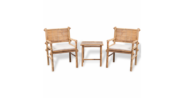 Set mobilier de gradina din cinci piese, bambus