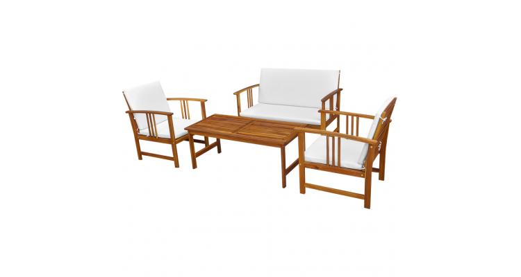 set mobilier de gradina din lemn de acacia, zece piese