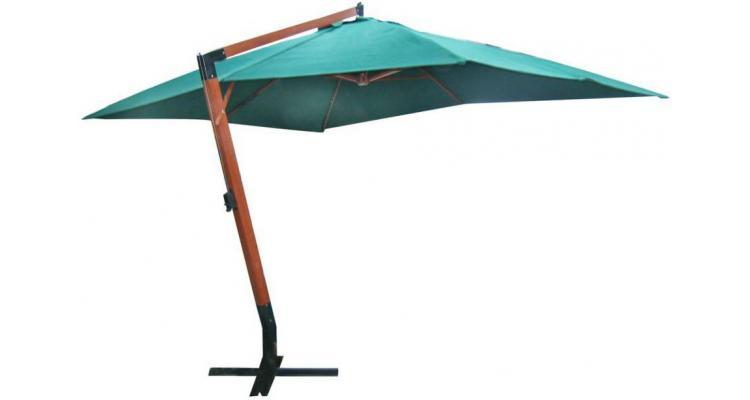 Umbrelă de soare 300 x 400 cm verde poza kivi.ro