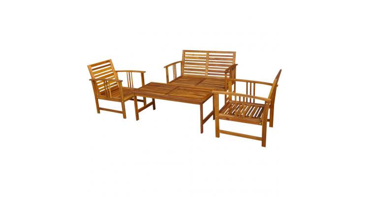Set mobilier de gradina din lemn de salcam format din 4 piese