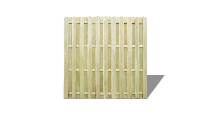 Panou pentru gard din lemn de pin 180 x 180 cm, verde