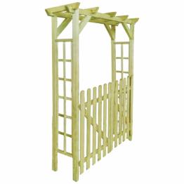 Poarta de gard pergola/arcada din lemn tratat, 150x50x200 cm