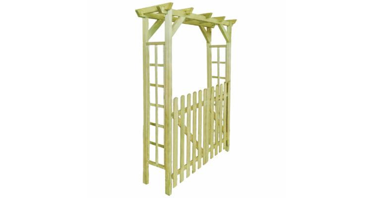 Poarta Gard Pergola Arcada Lemn Tratat - 16473