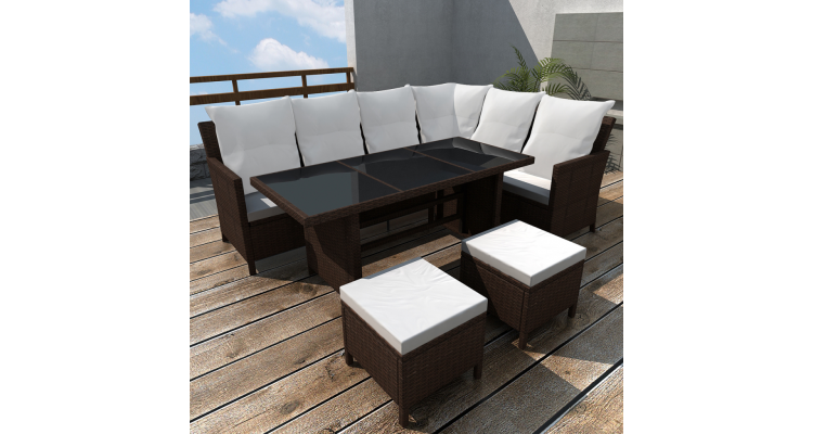 Imagine Set Mobilier Gradina Poliratan Maro