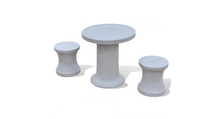 Set pentru exterior 1 masa cu 2 scaune din ciment