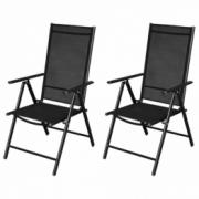 Set scaune pliante aluminiu 2 bucati