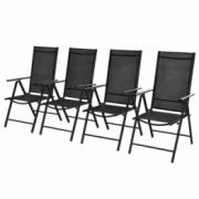 Set scaune pliante aluminiu 4 bucati