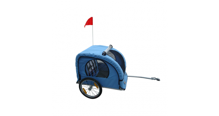 Remorca Bicicleta Copii Albastru Imagine