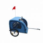 Remorca de bicicleta pentru copii, Albastru