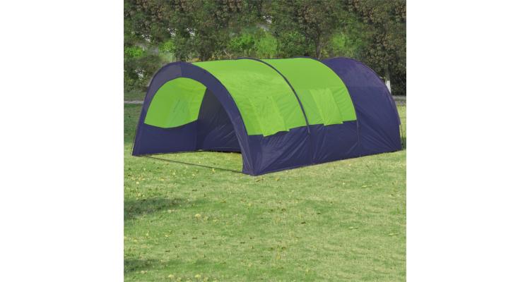 Cort Camping Poliester Albastru Verde Poza