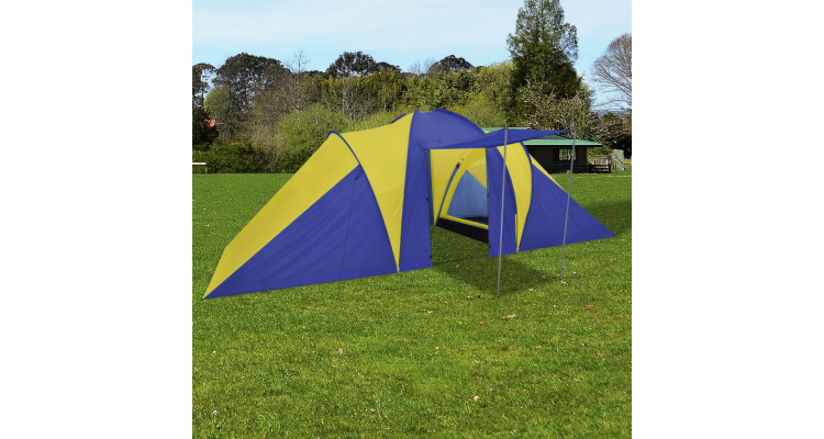 Cort Camping Bleumarin Galben Poza