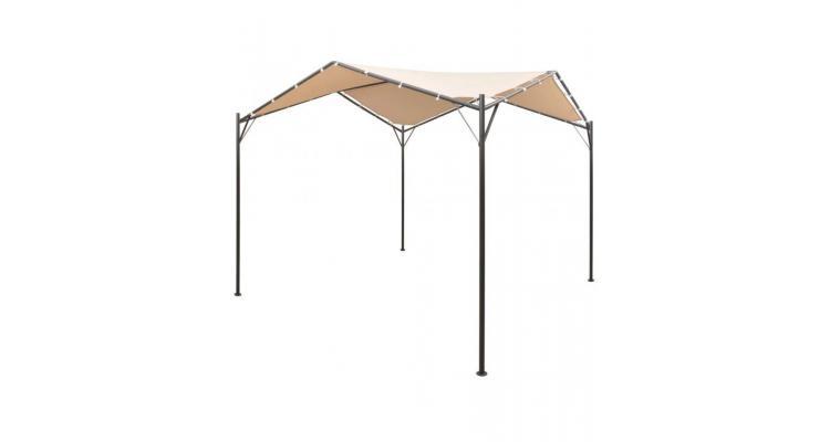Foișor cort cu baldachin, 4x4 m, oțel, bej