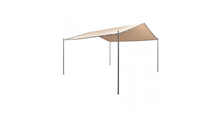 Pavilion foișor cort baldachin, 4 x 4 m, oțel, bej poza kivi.ro