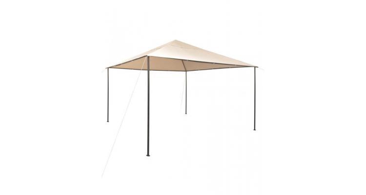 Pavilion foișor cort baldachin, 4x4 m, oțel, bej poza kivi.ro