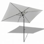 Umbrela de soare 3 x 2 m, Alb-nisip