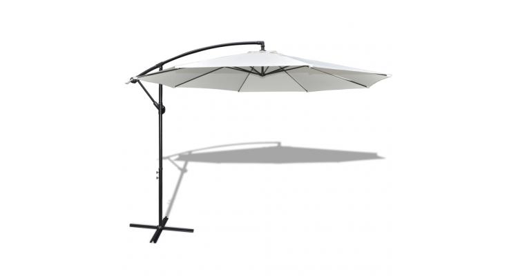 Umbrela de soare 3,5 m, Alb-Crem