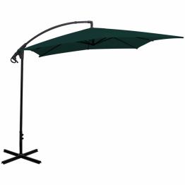 Umbrela de soare cantilever tip banana 2,5 x 2,5 m, Verde