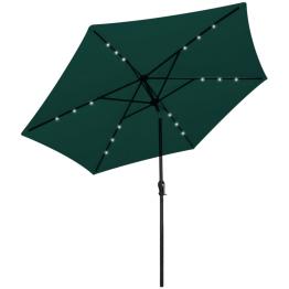 Umbrela de soare cu LED 3 m, Verde