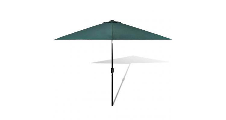 Umbrela de soare cu stalp din otel 3 m, Verde