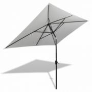 Umbrela de soare dreptunghiulara 200 x 300, Alb nisip