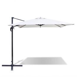 Umbrela de soare patrata din aluminiu 2,5 x 2,5 m Alb