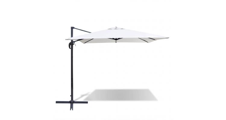Umbrela Soare Patrata Aluminiu Alb Poza