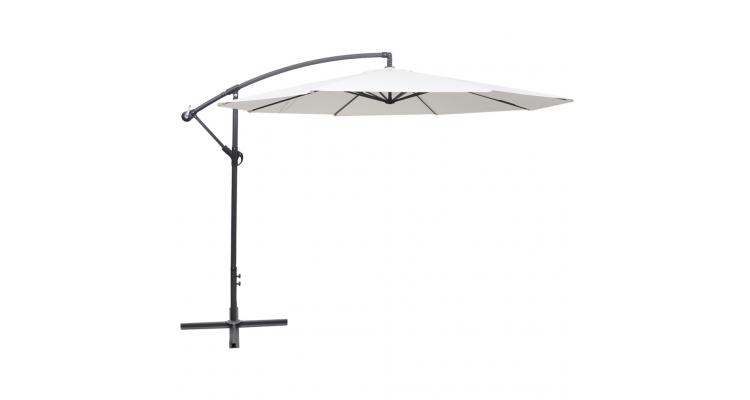 Umbrela de soare, 3,5 m, alb nisip