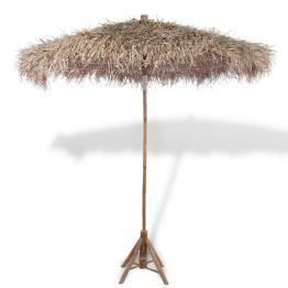 Umbrela din lemn de bambus si acoperis din frunze de bananier 270 cm