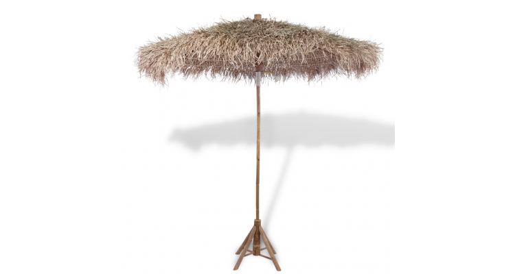 Umbrela Lemn Bambus Acoperis Frunze Poza