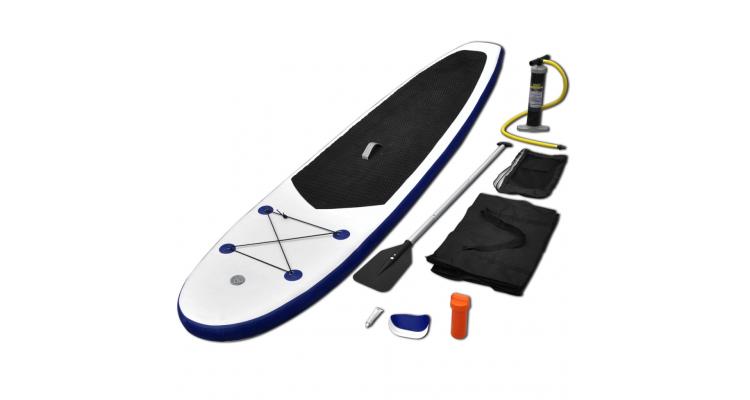 Placa de Surf Gonflabila Albastru si Alb