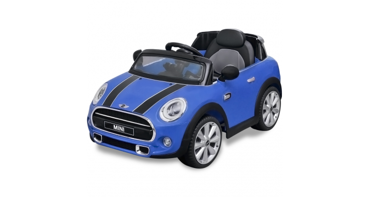 Masina Ride On Mini Cooper Albastra Imagine