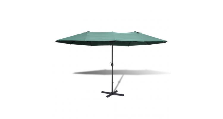 Umbrela Verde Aluminiu Poza