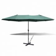 Umbrela verde din aluminiu 2,7 x 4,6 m