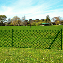 Set Gard de sarma cu stalpi cu pivot si accesorii montare 1,25 x 15 m