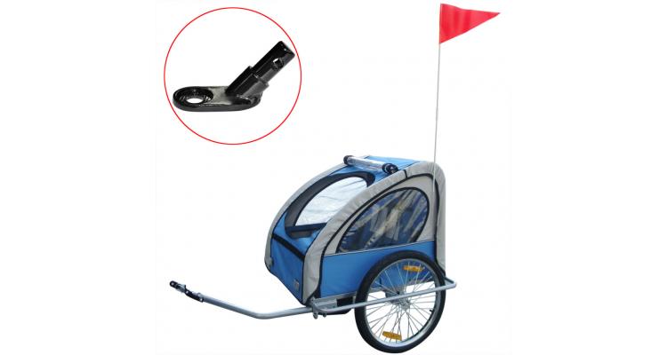 Remorca Bicicleta Copii Cuplaj Albastru Poza