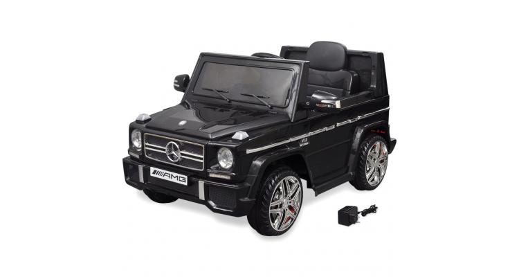 Masina electrica pentru copii SUV Mercedes Benz G65 2 motoare, negru