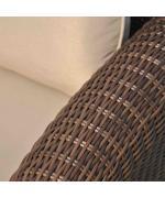 Canapea de gradina Marquise 153.5x93.5x91.5cm crem/maro