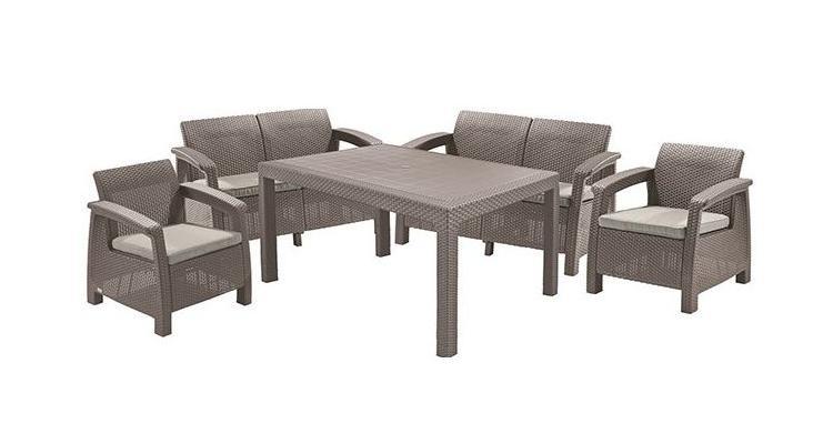 Set mobilier de gradina Corfu II Fiesta Capuccino / Gri-Nisipiu