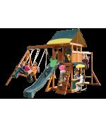 Complex de joaca din lemn de cedru premium Brookridge cu leagane Kidkraft