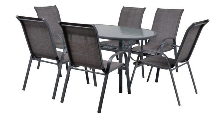 Ekonomy Set 6 Masa cu 6 scaune schelet metalic