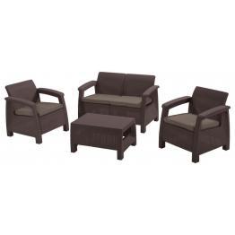 Set mobilier de gradina Corfu Maro/Gri taupe