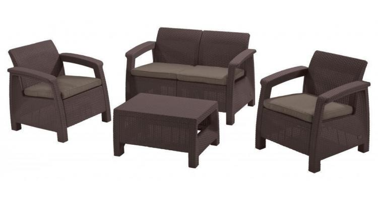 Set Mobilier Gradina Maro Gri Imagine