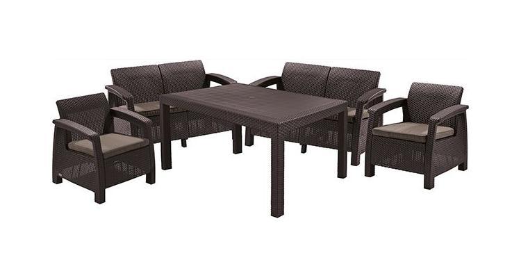 Set mobilier de gradina CORFU II FIESTA Maro/Gri-Taupe