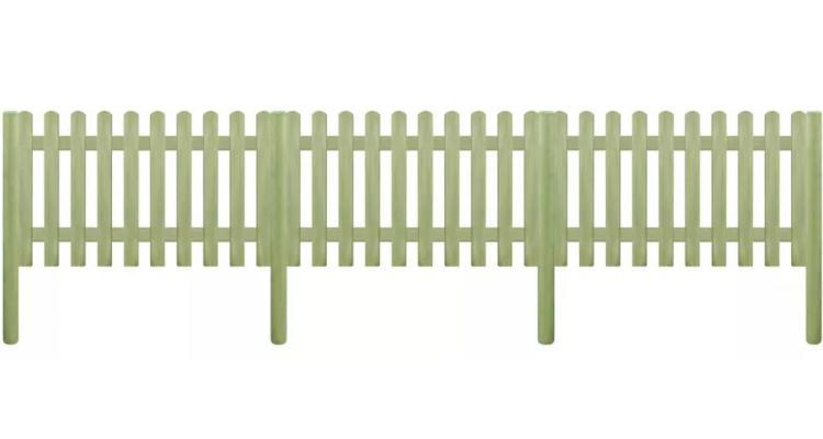 Gard din tarusi, lemn de pin tratat, 5,1 m 110 cm 6/9cm poza kivi.ro