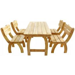 Set mobilier de gradina 5 piese lemn de pin impregnat