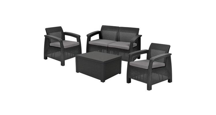 Set mobilier de gradina Corfu II Box Grafit /Gri-Rece