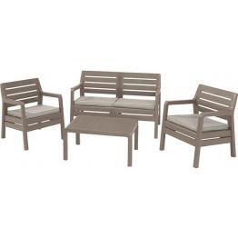 Set mobilier de gradina Delano Capuccino/Gri-nisipiu - imitatie lemn
